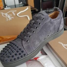 Christian Louboutin Flat Trainers Grey