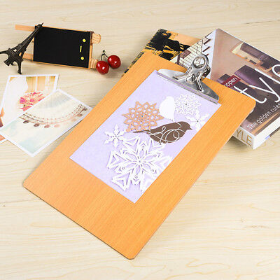 Mini Wood Clipboard Low Profile Clip Hardboard A5 For Home Office School