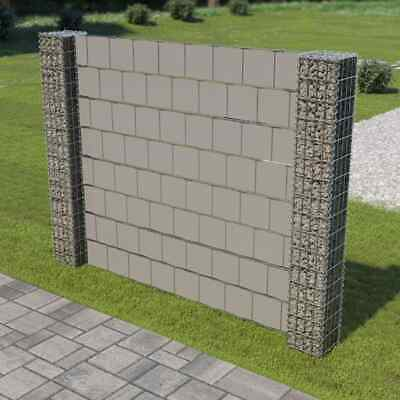 vidaXL Gabionenzaun 180x180cm Gabionensäule Sichtschutz Gabione Mauer Wand