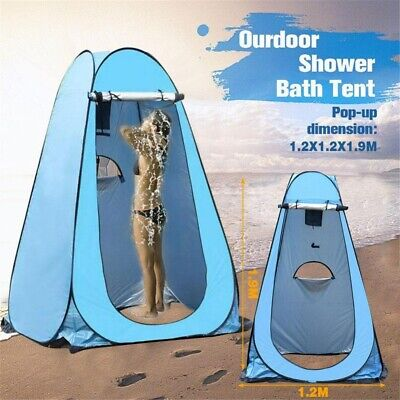1-2 Person Pop-Up Toilet Shower Tent Outdoor Changing Room Camping Shelter Gift
