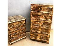 Gold and black chest of drawers