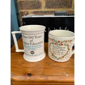 Decorative Mugs x 2