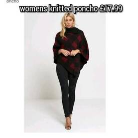 womens knitted poncho