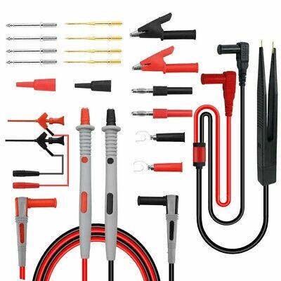 Electronical Multimeter Probe Test Lead Kit Plug Alligator Clip Test Hook Tool