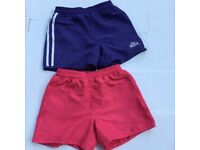 Lonsdale Women's Sport Shorts 2 pairs (one pink, one purple) Size 6