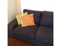 Ikea Kivik Dansbo Dark Grey 3 Seater Sofa - Great Condition