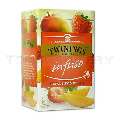 TWININGS Infuso Strawberry & Mango Fruit Flavored Tea 20 Env