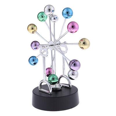 Newtons Cradle Physics Balance Ball Swing Toy Metal Desk Office Decor B