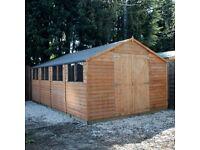 20 x 10 wooden workshop shed