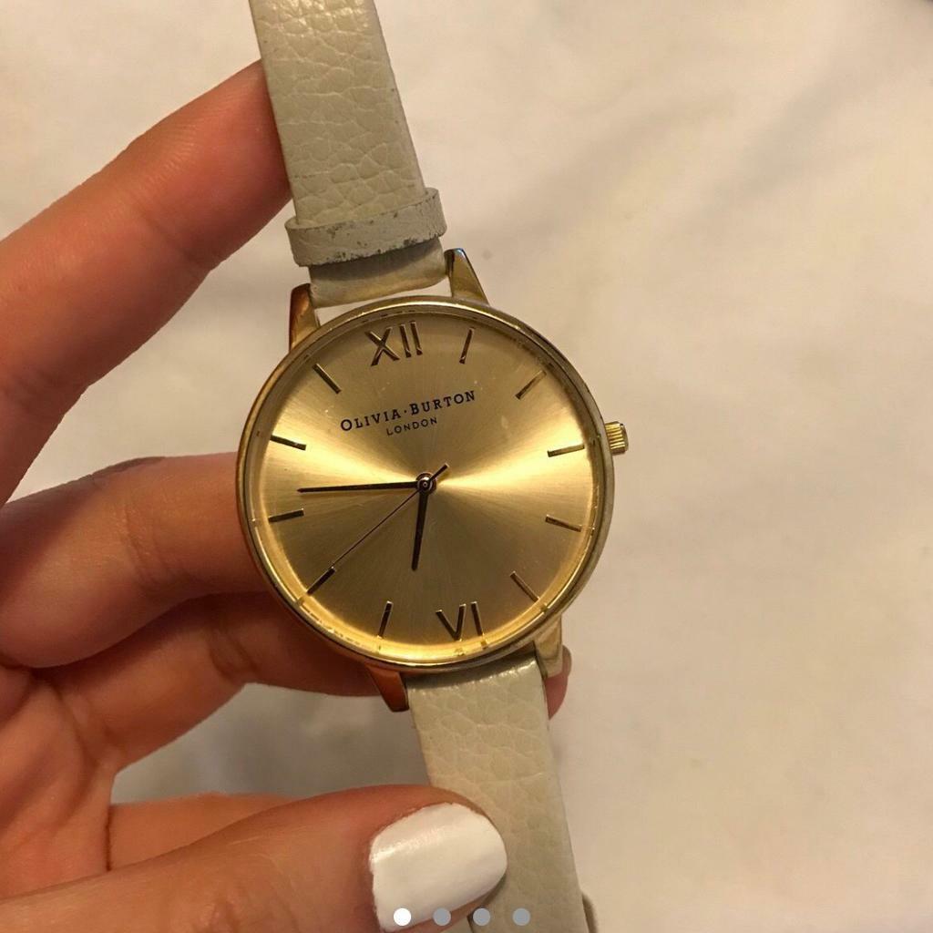 c015224eecc5 Olivia Burton mink and rose gold big dial watch