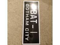 Batman Gotham city Liscience plate