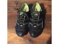 Black Leather Timberland Trainers - size 6-6.5uk