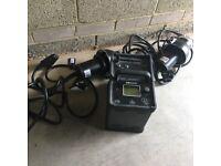 Bowens Explorer 1500 Two Head Portable Lighting Kit Battery Generator