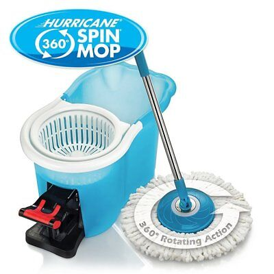 Hurricane Spin Mop Home Cleaning System by BulbHead Floor Mop Bucket Hardwood