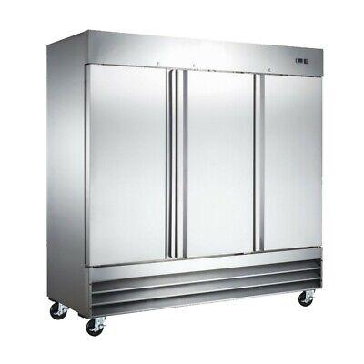 Three Door Reach In Stainless Steel Commercial Restaurant Refrigerator