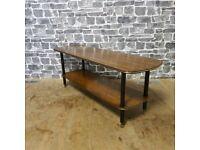Mid Century Contemporary 2 Tier Coffee Table
