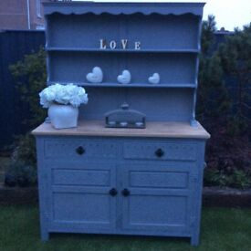 Uplifted grey dresser