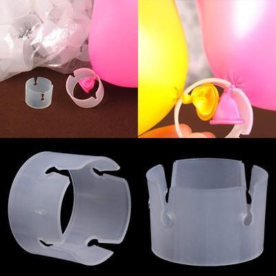 100pcs Balloon Arch Stand Connectors Clip Ring Buckle Wedding Birthday Decor (Balloon Clip)