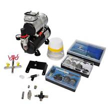 Airbrush compressor set with 3 pistols 310x150x310 mm (SKU140284) Mount Kuring-gai Hornsby Area Preview