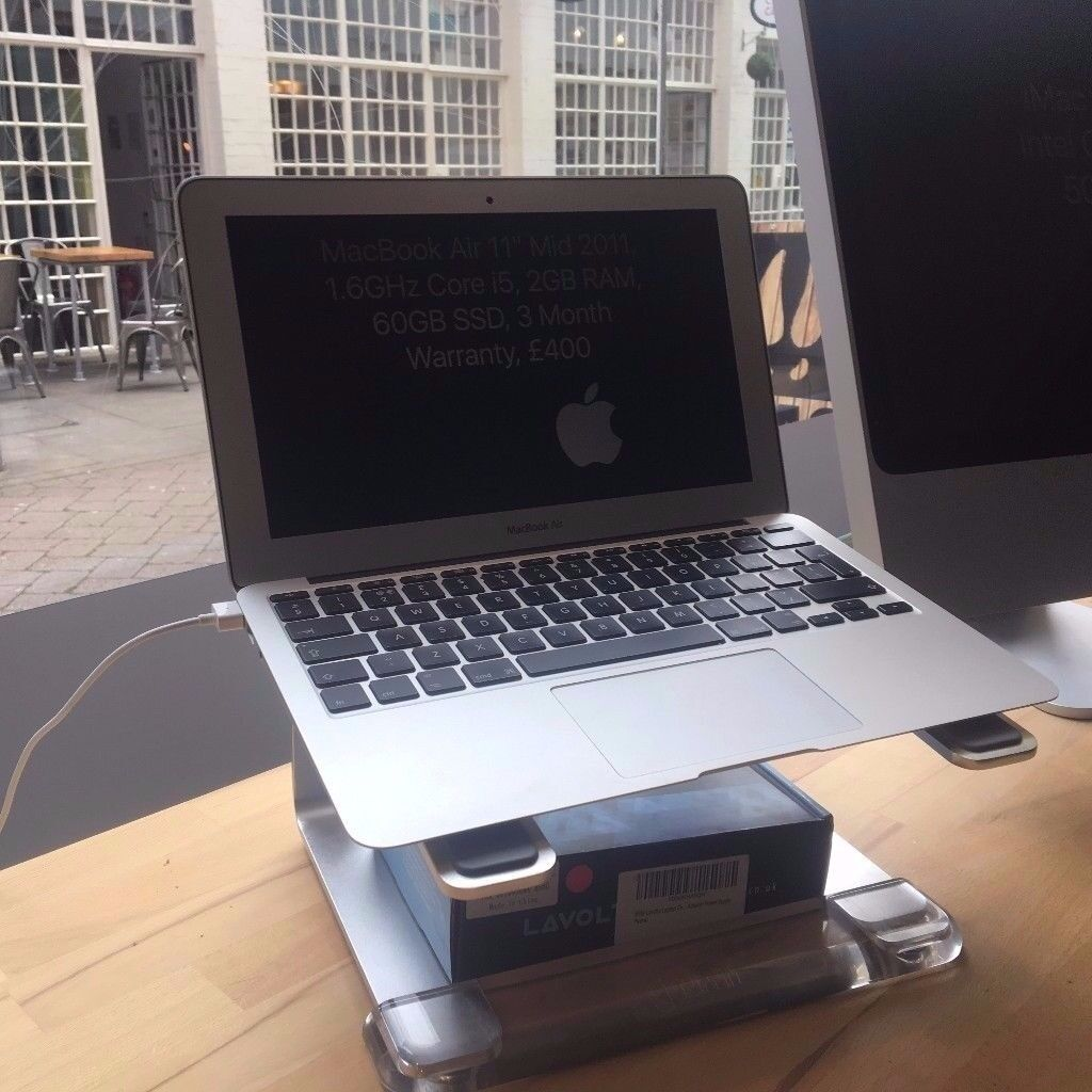 MacBook Air 11″ Mid 2011, 1.6GHz Core i5, 2GB RAM, 60GB SSD, 3 Month Warranty, £400