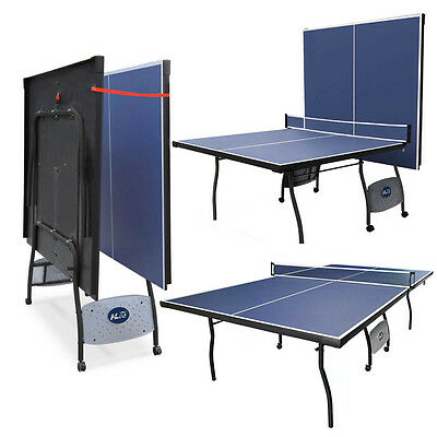 New Folding Table Tennis Table Professional Ping Pong Set with Net Bule