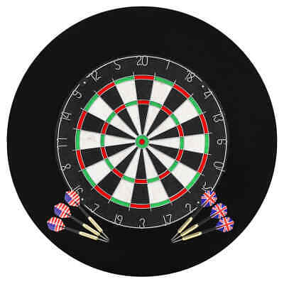 vidaXL Dartscheibe 6 Dartpfeilen Surround Profi Dartboard Steeldart Dart Set ()