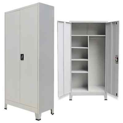 Vidaxl Locker Cabinet W Compartment Office Gym Sports Changing Container 2 Door