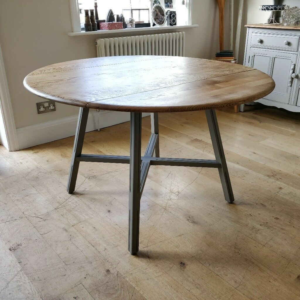ercol table vintage ercol dining table painted table retro furniture light - Dining Table Retro