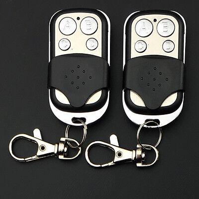 2x Universal Replacement Garage Door Car Gate Cloning Remote Control Key Fob 433