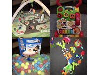 Baby/kids toys barbie/paw petrol/little tikes/ peppa pig:ball pool/ balls/ activity mat/toy pram