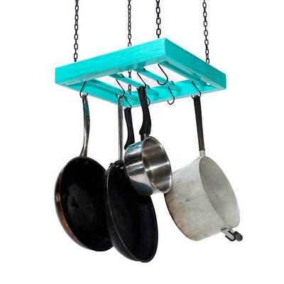 Hanging Pot Rack - Wooden - Ceiling Mounted - Square - Small Square Ceiling Pot Rack