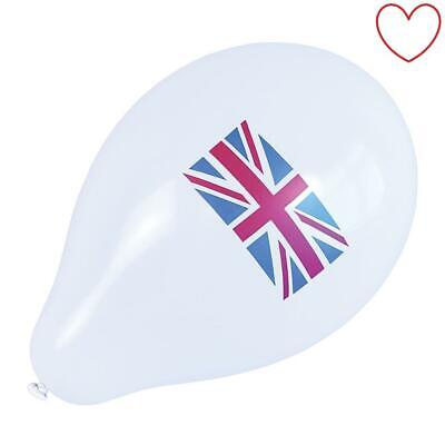 Festival Pack of 10 Union Jack Balloons Party England St George