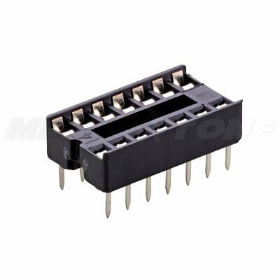 2 Pcs 14-pin Dip Ic Socket Adaptor Solder Type Retention Contact - Usa Seller
