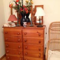 Beautiful pine furniture bedroom set imported from Europe