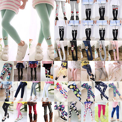 Hot Toddler Kid Girl Baby Cotton Pants Stretch Warm Leggings Lined Tight Trouser - Hot Girl Leggings