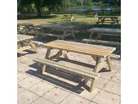 Classic Pub Benches/ Lot of 10 Traditional Tables/ Norwich