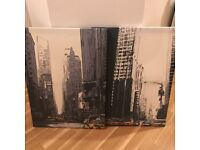 New York Style Canvas Prints - Set of 2