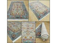 NEW Aqua Novelty Kilim Rug!