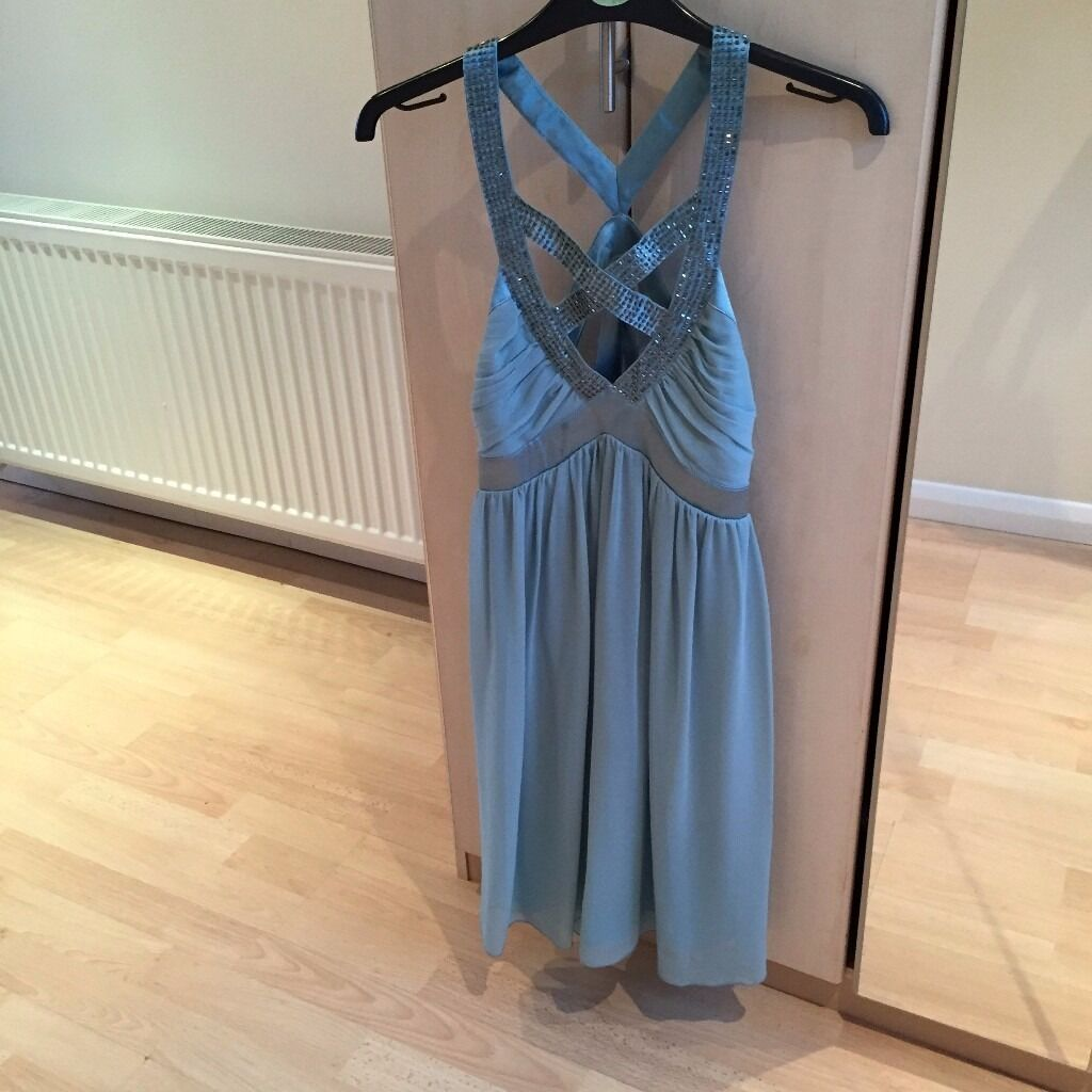 Lipsy dress size 8 (UK) light tealin New Moston, ManchesterGumtree - Lipsy dress light teal colour, sequin detail on front and back straps. In perfect condition
