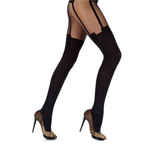 Henry-Holland-HOUSE-OF-HOLLAND-for-Pretty-Polly-SUPER-SUSPENDER-TIGHTS-black