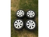 Volkswagen 16 inch alloys with tyres