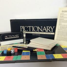 Vintage 1985 Pictionary First Edition Board Game Complete