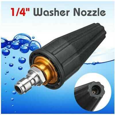 3600psi High Pressure Washer Turbo Nozzle Rotating Spray Tip 14 Quick Connect
