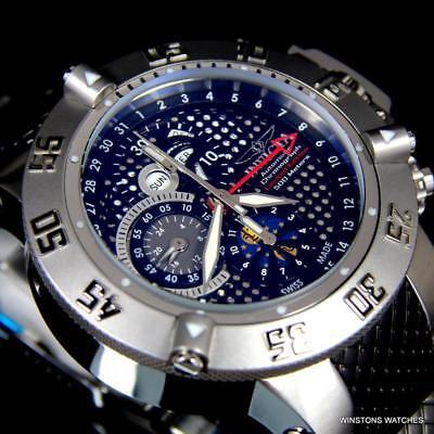 Invicta Subaqua Noma III 5834 Swiss Made Valjoux 7751 Moon Phase 50mm Watch New