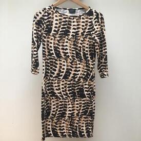 Topshop maternity snake pattern dress