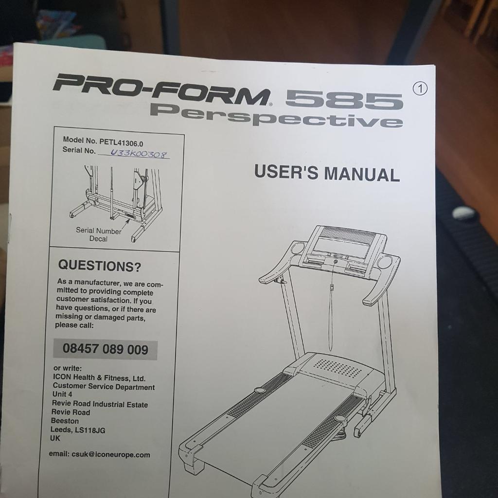 Pro Form Running Machine In Wavertree Merseyside Gumtree Proform Treadmill Wiring Diagram