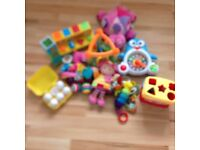 Assortment baby sensory toys