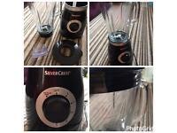 SilverCrest black smoothie milk shake maker with ice crusher