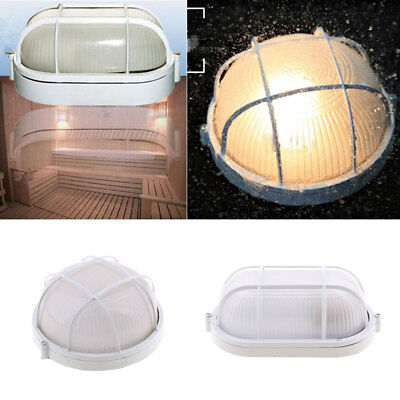 4Pcs Vapor-proof Sauna Steam Room Light Lamp w/Round Metal Guard Accessories