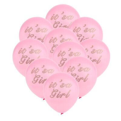 10 Stück It's a Girl Latexballons Rosa Runde Ballons Luftballons Baby